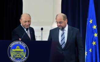 Basescu: Pentru Schulz, anexarea Crimeii era un fapt implinit si asta e