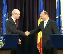 Basescu, dupa intalnirea cu Rompuy: Romania nu are nevoie sa stea cu mana intinsa