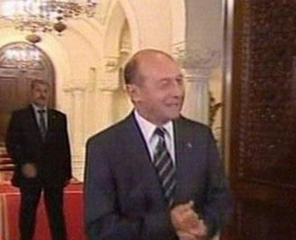 Basescu, la intalnirea cu FMI: This is a news alert! (Video)