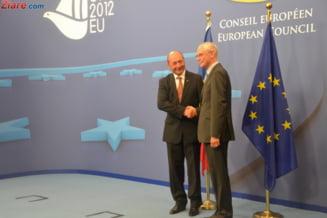 Basescu discuta cu van Rompuy si Barosso despre bugetul UE