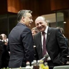 Basescu explica de ce radea in poza cu Viktor Orban