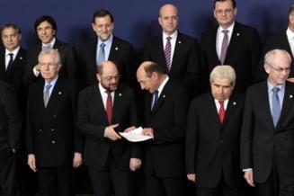 Basescu i-a inmanat un set de hartii presedintelui PE, Martin Schulz