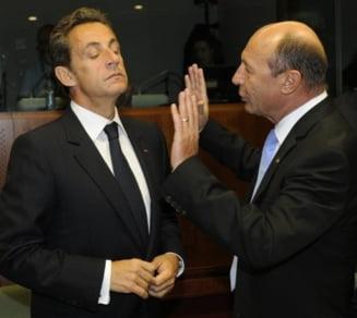 Basescu ii critica pe Sarkozy si Merkel si il apara pe Baconschi
