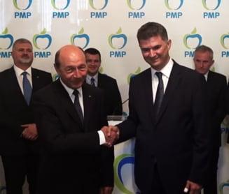 Basescu inghite UNPR: Reactia de baza pe scena politica a fost ironia