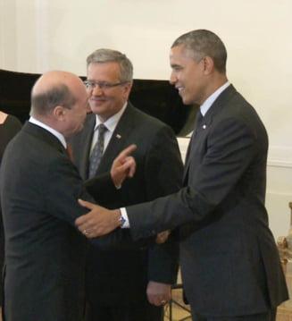 Basescu s-a intalnit cu Obama la Varsovia: Ce a spus liderul american (Galerie foto & video)