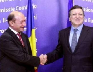 Basescu se intalneste cu Barroso si Reding la Bruxelles, Ponta mai asteapta putin