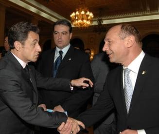 Basescu se intalneste cu Sarkozy sa discute despre romi
