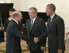 Basescu si Obama in Polonia