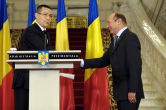 Basescu si Ponta negociaza scaderea CAS la Cotroceni (Video)