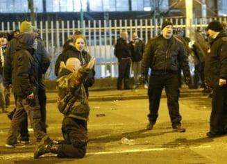 Bataie intre suporteri in Bucuresti: Cinci unguri si un roman, retinuti!