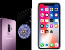 Batalia gigantilor: Samsung Galaxy S9 versus iPhone X - Care e mai tare?