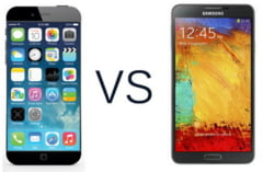 Batalia pentru suprematia mondiala: Apple iPhone 6 vs. Samsung Galaxy Note 4 (Video)