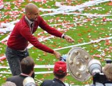 Bayern a sarbatorit un nou titlu de campioana. Ce a facut Guardiola cu trofeul