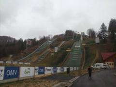 Baza de sarituri cu schiurile de la Rasnov este pregatita pentru FOTE