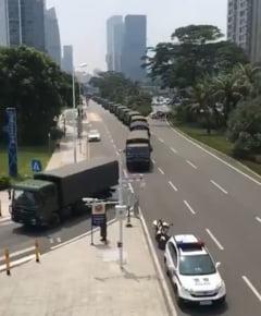 Beijingul mobilizeaza trupe la frontiera cu provincia Hong Kong, anunta Donald Trump