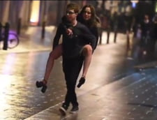 Betie crunta in noaptea de Revelion - Unii si-au pierdut si pantalonii (Video)