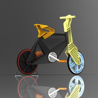 Bicicleta eco din plastic reciclat