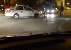 Biciclista accidentata in Gheorgheni, la intersectia Brancusi si Romul Ladea - FOTO