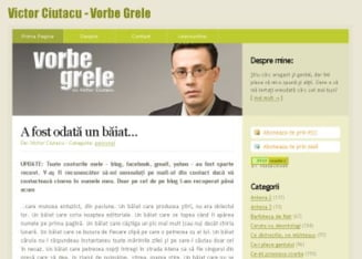 Blogul lui Victor Ciutacu a fost spart