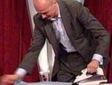 Bogdan Olteanu a calcat o camasa si a cusut nasturi in direct la TV