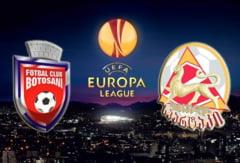 Botosani, la debutul in Europa League: Locul 8 din Liga 1 reprezinta Romania