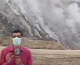 Brasovul, acoperit de un nor gros de fum de la groapa de gunoi