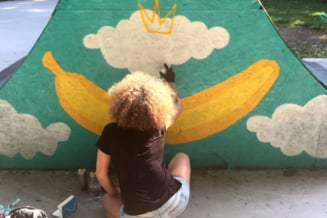 Brasovul primeste in dar o noua pictura murala