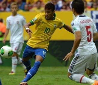 Brazilia a debutat fulminant la Cupa Confederatiilor 2013. Gol superb Neymar (Video)