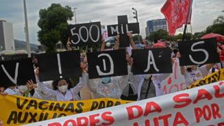 Brazilia a depasit jumatate de milion de decese din cauza Covid-19. Proteste masiva in tara pentru accelerarea vaccinarii