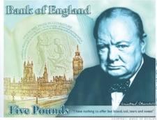 Britanicii il pun pe Churchill pe cea mai mica bancnota