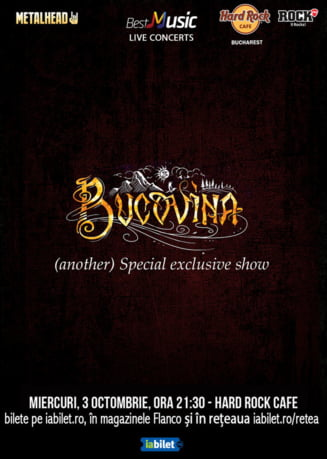Bucovina special exclusive show in Hard Rock Cafe