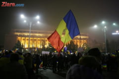 Bucurestenii au iesit in Piata Victoriei pentru a 19-a zi la rand