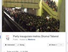 """Bucurestenii fac o petrecere online, de bucurie ca se deschide metroul in Drumul Taberei: """"Ajunge si domnul ministru Bode la party. Pentru siguranta, lasati-va masinile acasa"""""""