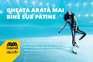 Bucurestenii patineaza la inaltime: Mega Mall a inaugurat primul sau patinoar in luna decembrie!