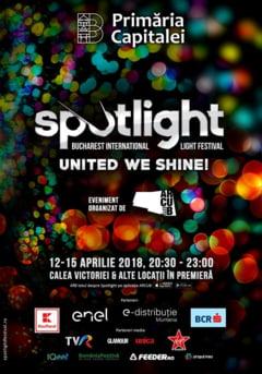 Bucurestiul devine un oras al luminilor. Incepe Spotlight - Bucharest International Light Festival
