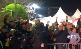 Bucurie fara margini dupa victoria Romaniei: Fetele au sarbatorit alaturi de fani succesul cu Ungaria