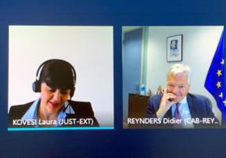 """Buget mai mare pentru Parchetul European, in urma discutiilor """"constructive"""" intre procurorul Codruta Kovesi si Didier Reynders"""
