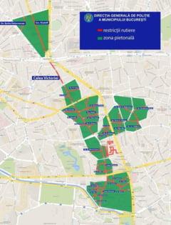 Bulevardele din centrul Capitalei devin din nou zona pietonala in weekend. Rute ocolitoare pentru soferi