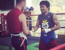 Bute, in ring cu o legenda a boxului: Ma ajuta mult...