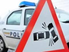 CARAMBOL pe DN 6, intre ORSOVA si SEVERIN: TREI TIR-URI si un autoturism au fost implicate intr-un ACCIDENT RUTIER