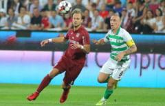 CFR Cluj, invinsa de Slavia Praga in play-off-ul Ligii Campionilor