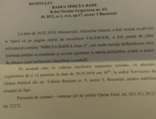 CItatie politie Mircea Badea