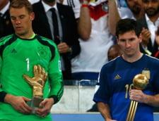CM 2014: Messi a primit un trofeu din partea FIFA dupa finala cu Germania