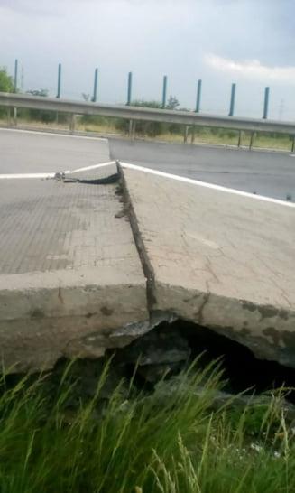 CNAIR anunta ca a reparat urgent Autostrada Soarelui, dupa ce s-a dus personal directorul Neaga sa supervizeze lucrarea