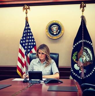 CNN: Melania Trump il sfatuieste pe sotul sau sa accepte infrangerea