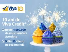 CONCURS: Viva Credit sarbatoreste 10 ani de la primul imprumut acordat 100% online!