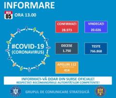 COVID-19. BULETIN DE PRESA 5 iulie 2020, ora 13.00