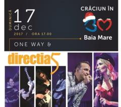 CRACIUN IN BAIA MARE CONTINUA - One Way si Directia 5 concerteaza duminica, 17 decembrie, de la ora 17.00 in Centrul Vechi