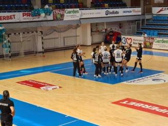 CSM Bucureşti, înfrângere cu FTC Budapesta, la Trofeul Centenar de handbal de la Oradea