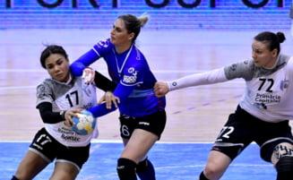CSM Bucuresti, invinsa la scor de Metz in sferturile de finala din Liga Campionilor la handbal feminin
